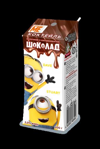 Коктейль молочный Миньоны шоколад 3,2% 200г Ижевск