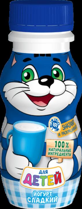 Йогурт Простоквашино питьевой натуральный сладкий 1,7% 200мл. Юнимилк