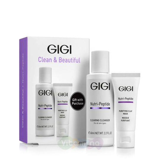 GiGi Дорожный набор для идеально чистой кожи Nutri Peptide Clean&Beautiful