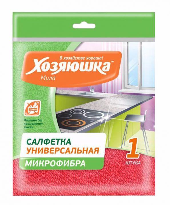 Чист.салфетка Хозяюшка универс. микрофибра 30*30см 1шт КС-04