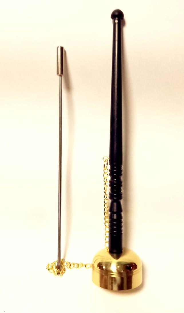 Колокол с молоточком на цепочке