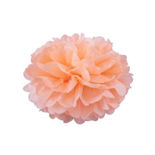 Помпон персиковый 15-20 см