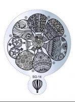 Пластина для стемпинга круглая SG 14