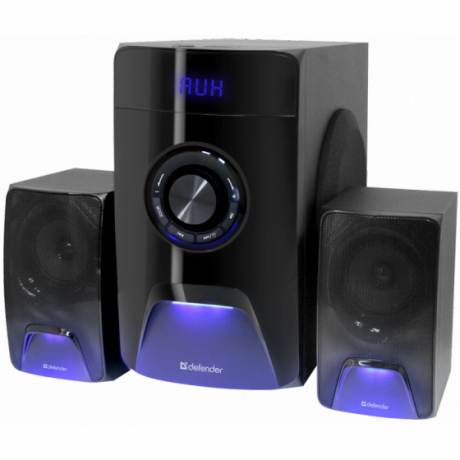 Активная система DEFENDER 2.1 X500, черный/синий, 50 Вт Bluetooth, FM/MP3/SD/USB (1/3)