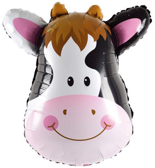 Голова коровы шар фольгированный с гелием