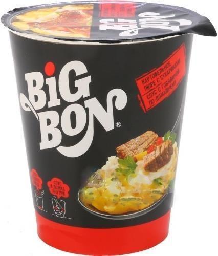 Карт.пюре BigBon с сухариками и  говяд. по-домашн. 60г