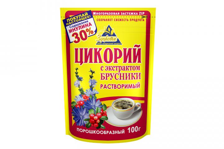 Цикорий Здоровье с брусникой 100г