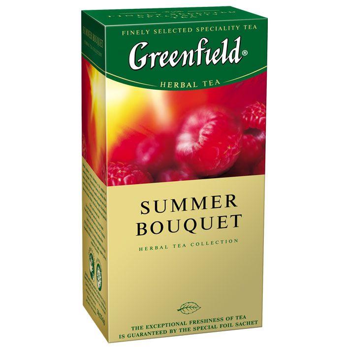 Чай Гринфилд Самма Букет травяной малина 25пак*2г