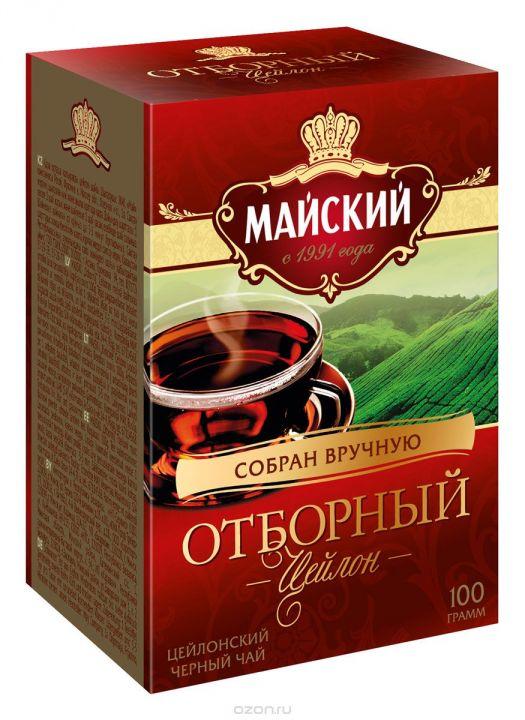 Чай Майский отборный средне/листовой 100г