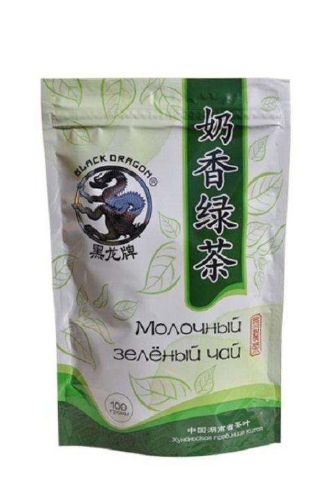Чай Чёрный дракон молочный зелёный м/у 100г