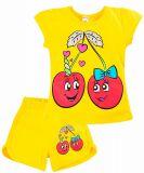 Летний комплект для девочки 4-8 лет BONITO kids желтый