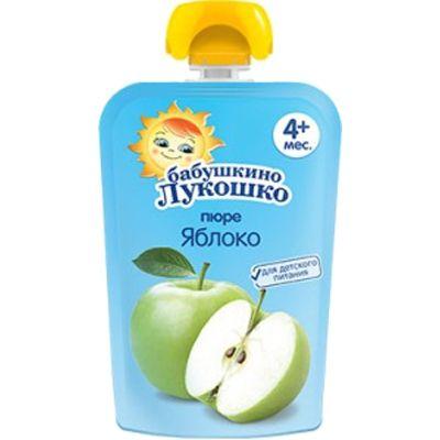 Пюре Бабушкино Лукошко яблоко 90г Пауч
