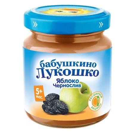 Пюре Бабушкино Лукошко яблоко/чернослив 100г