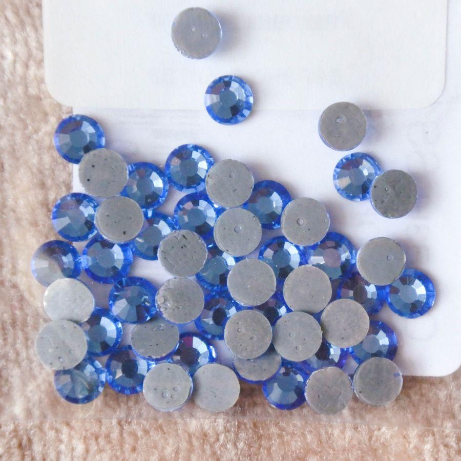Стразы стеклянные клеевые, цвет Голубой SS20, 35 шт/упак
