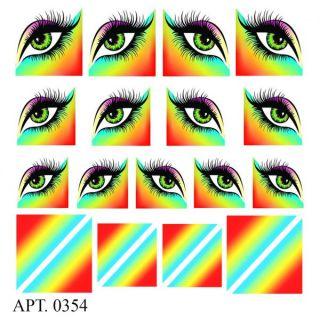 Слайдер-дизайн для ногтей № 0354