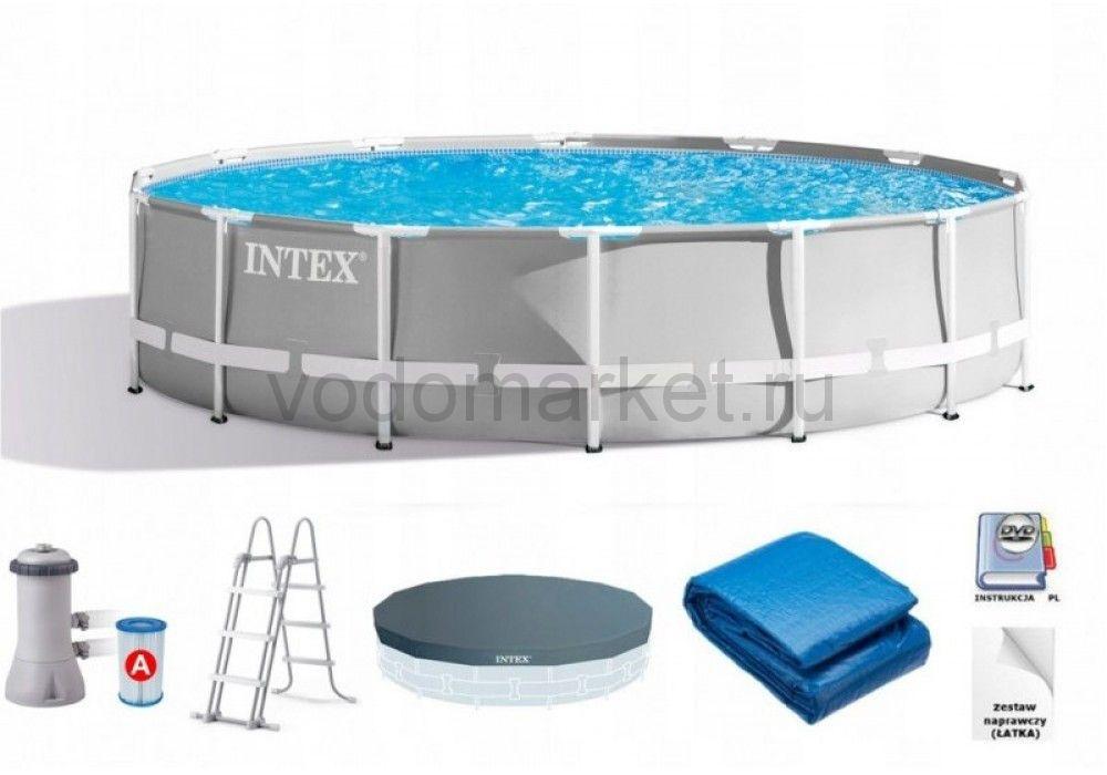 427x107см (26720) Бассейн каркасный INTEX PRISM FRAME