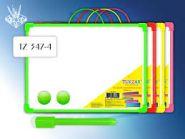 Доска магнитно-маркерная (35х50 см, в ассортименте) + маркер на магните с ластиком + 2 магнита (арт. TZ 347-4)