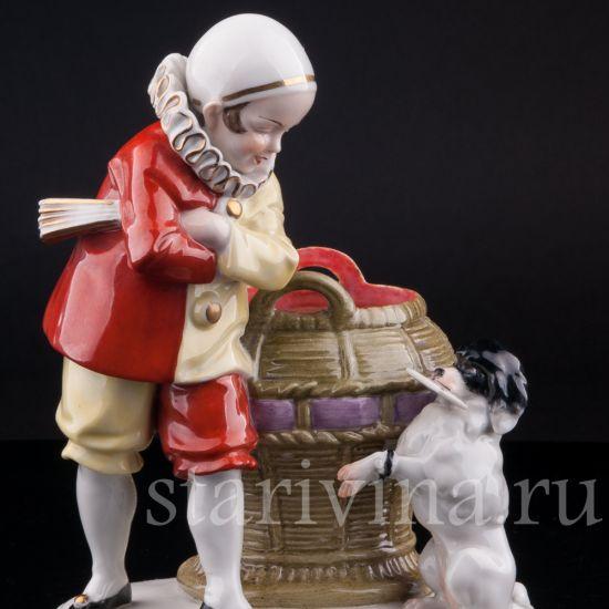 Изображение Пьеро с пуделем, Hertwig & Co, Katzhutte, Германия, нач.20 в