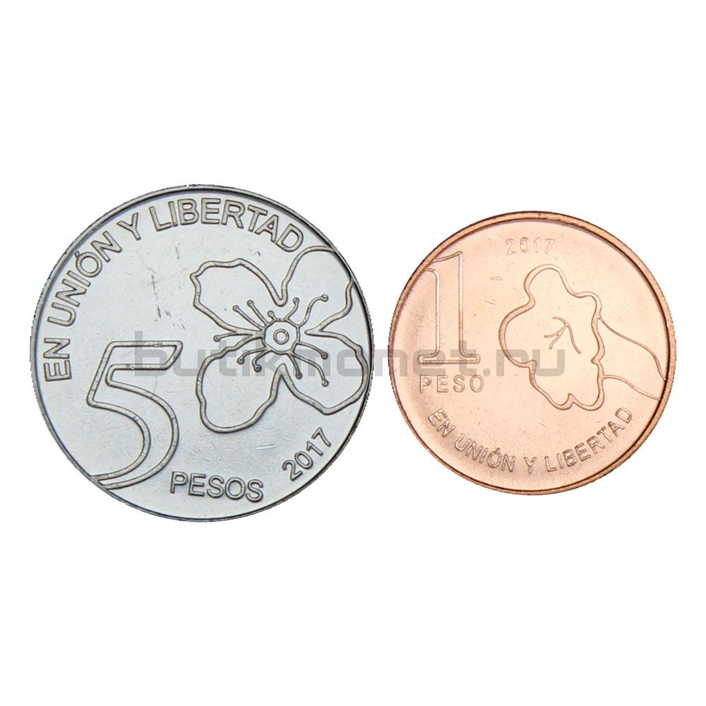 Набор монет 2017 Аргентина (2 монеты)