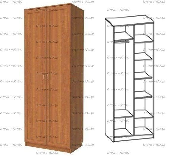 Шкаф двухдверный 329 (80х52х217)