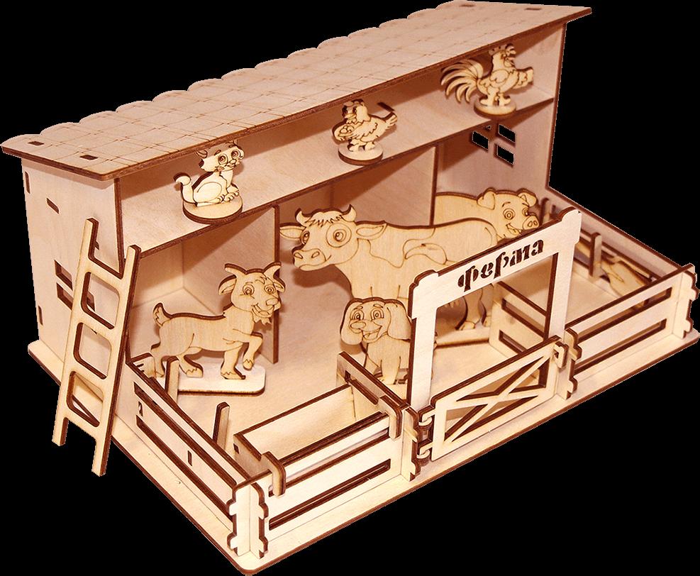 Деревянный конструктор Ферма