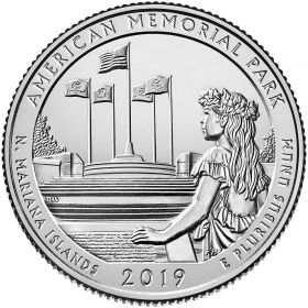 Американский мемориальный парк (Северные Марианские Острова)25 центов США 2019 Двор на выбор