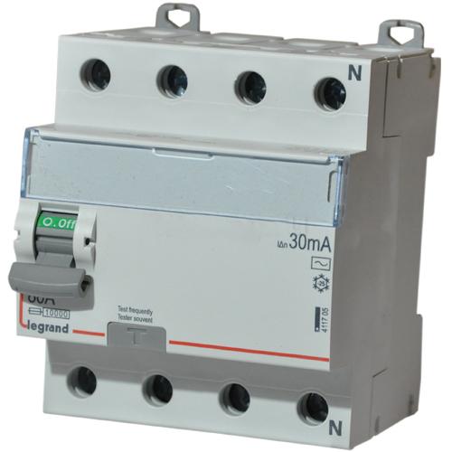 411801 Дифф.выключатель (УЗО) DX3 4П 63А AS 300мА N спр. Legrand
