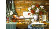 Puzzolini. ПАЗЛЫ 1000 элементов. КРАСИВЫЙ НАТЮРМОРТ СО СКРИПКОЙ (арт. ALPZ1000-7745)