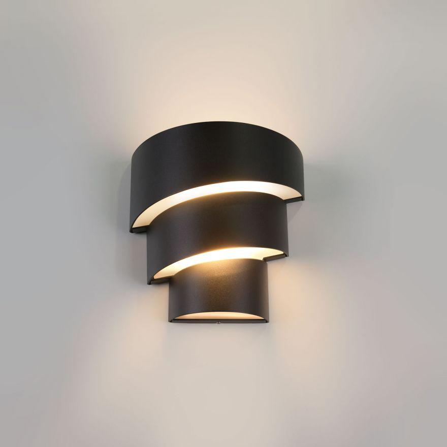 Уличный настенный светодиодный светильник Elektrostandard 1535 TECHNO LED HELIX черный
