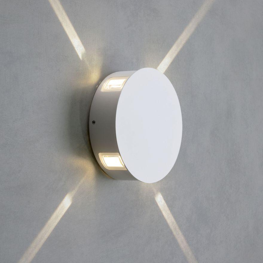 Уличный настенный светодиодный светильник Elektrostandard 1545 TECHNO LED BEAM белый