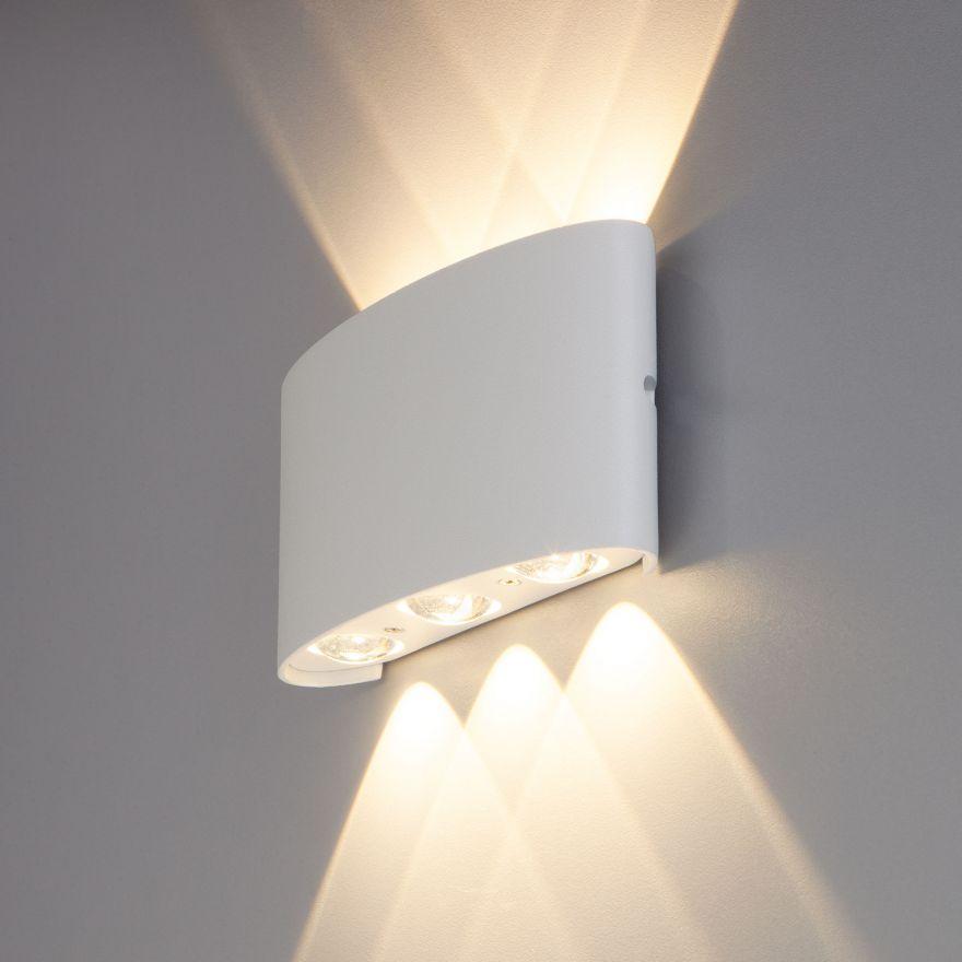 Уличный настенный светодиодный светильник Elektrostandard 1551 TECHNO LED TWINKY TRIO белый
