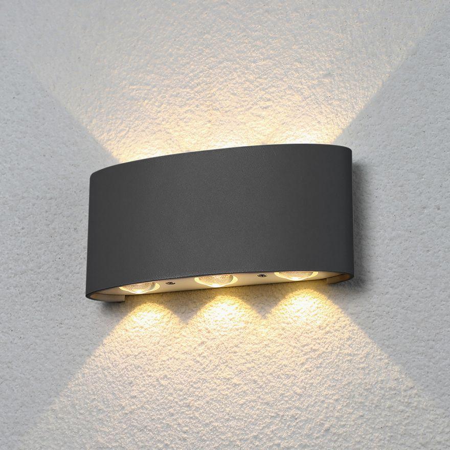Уличный настенный светодиодный светильник Elektrostandard 1551 TECHNO LED TWINKY TRIO серый