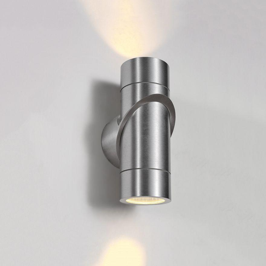 Уличный настенный светодиодный светильник Elektrostandard 1553 TECHNO LED VORTEX хром