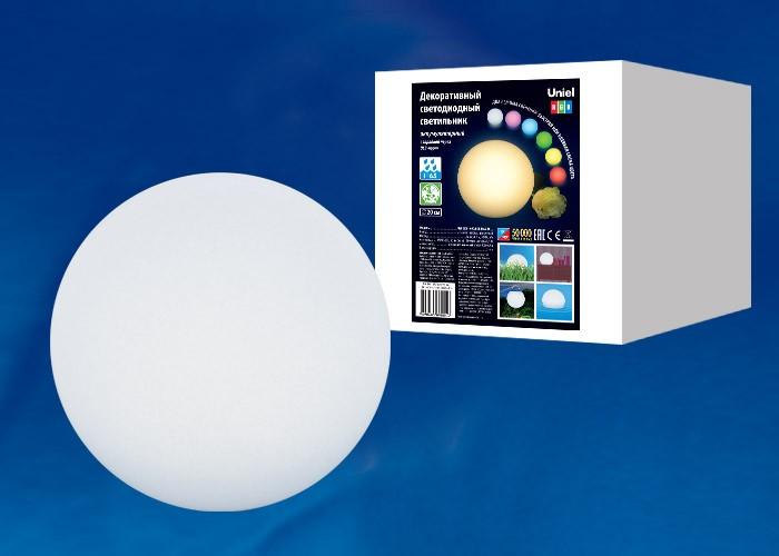 Уличный аккумуляторный светильник Uniel ULG-R001 020/RGB IP65 BALL