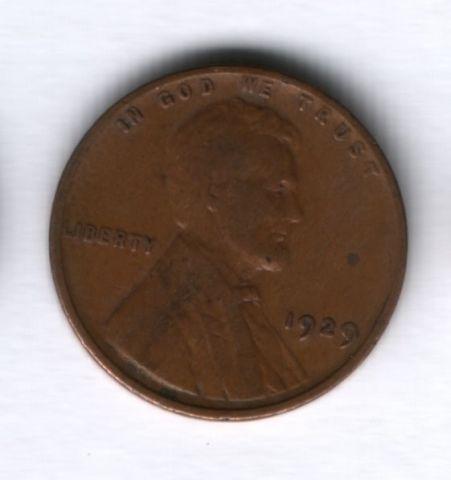 1 цент 1929 года США