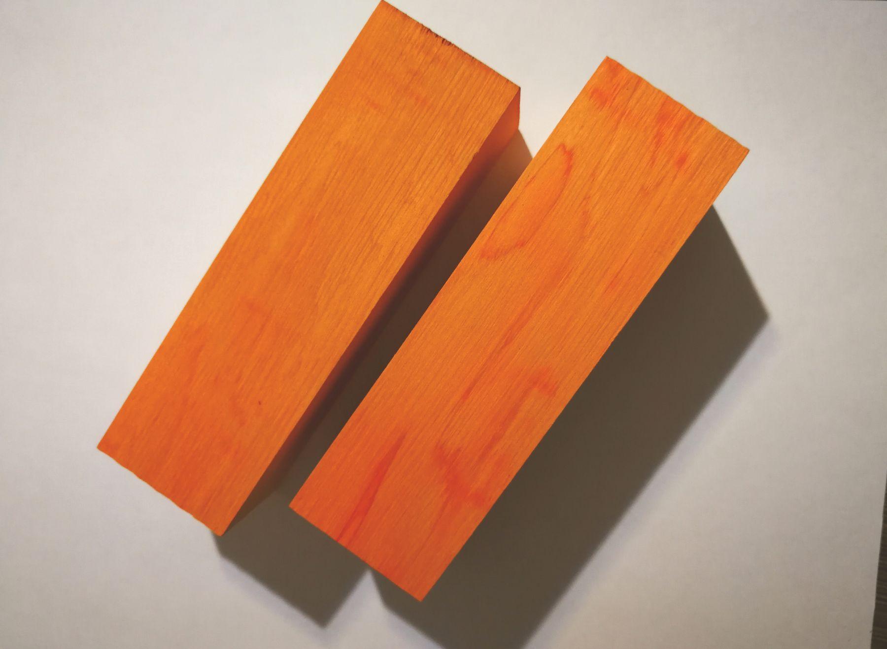 Оранжевый Граб плашки 5-7-10 мм на выбор (цена за 1 шт)