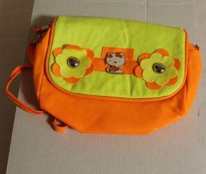 !  сумка оранж с желт длин ручка 2отд кожзам, ячейка: 23