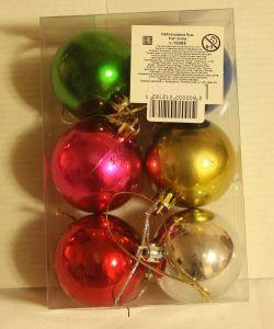 ! набор цв шаров 6шт, ячейка: 96