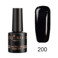 Гель-лак №200 Ou Nail, 8 мл (черный)