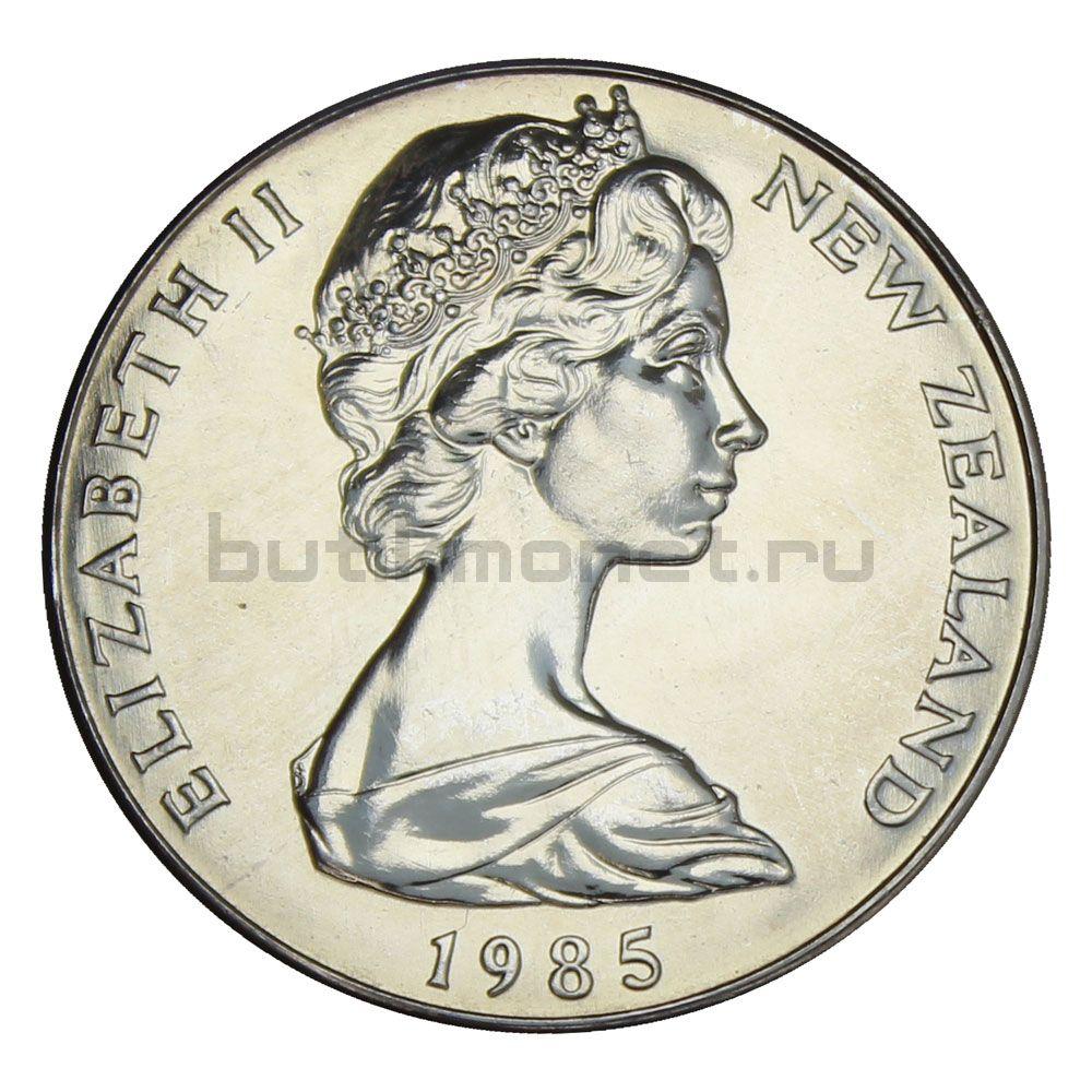 1 доллар 1985 Новая Зеландия Чёрный Ходулочник