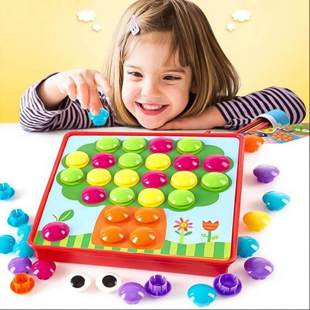 Развивающая Мозаика-Пуговки Button Idea 12 Картинок, 46 Кнопочек