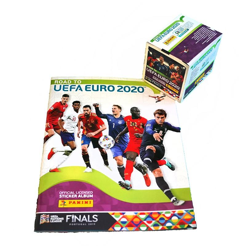 "Альбом Panini ""Road to EURO 2020"" + 50 пакетов с наклейками"