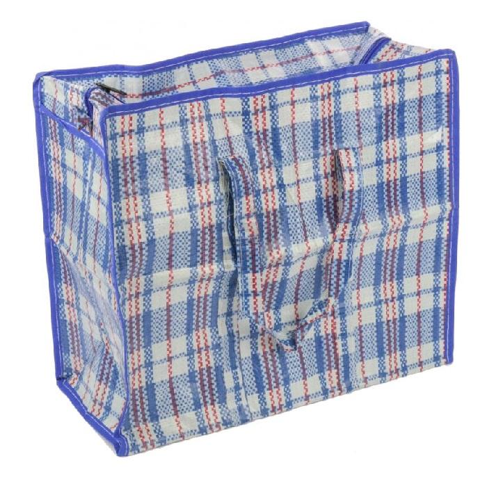 Хозяйственная сумка на молнии, 40х38х22 см, цвет синий