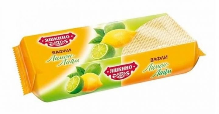 Вафли Яшкино Лимон-лайм 300г