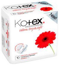 Прокладки Kotex 10шт Ultra нормал Dry & Soft сеточка