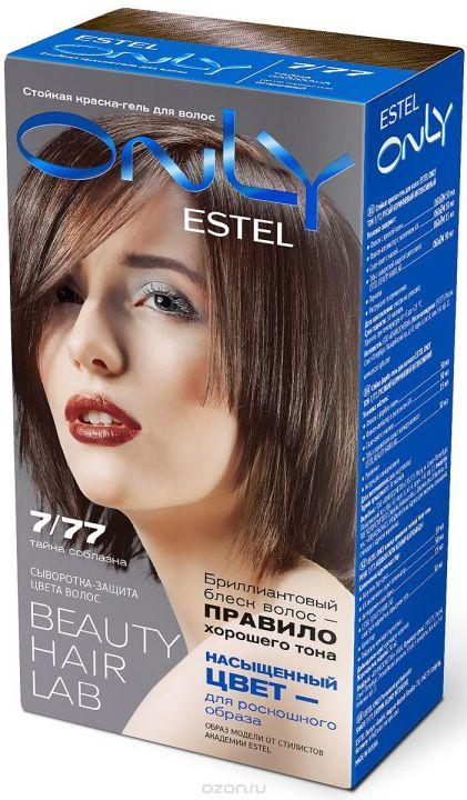 Краска-гель д/волос ЭСТЕЛЬ ONLY т. 7/77 Русый коричневый интенсивный
