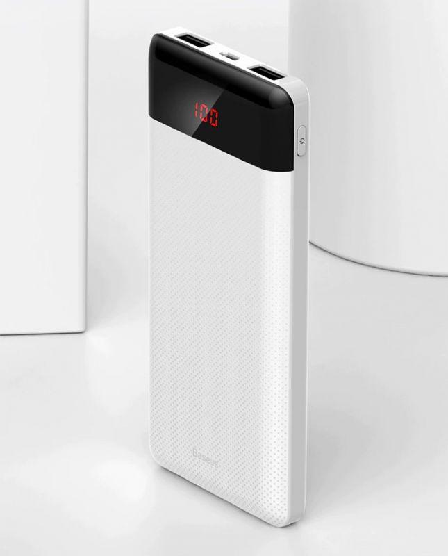 Внешний аккумулятор Baseus Mini Cu diital display Power Bank 20000mAh White