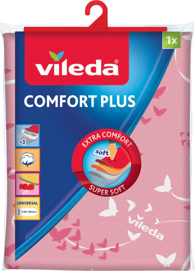Чехол для гладильной доски Vileda Comfort Plus, розовый