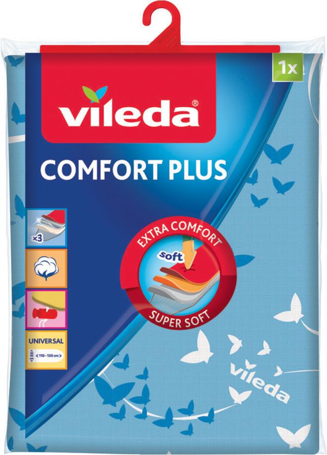 Чехол для гладильной доски Vileda Comfort Plus, голубой