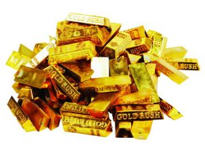 Золотые слитки пиратские